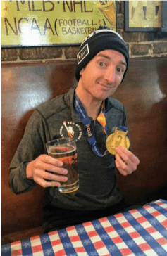 Post-race refreshments after the New York City Marathon