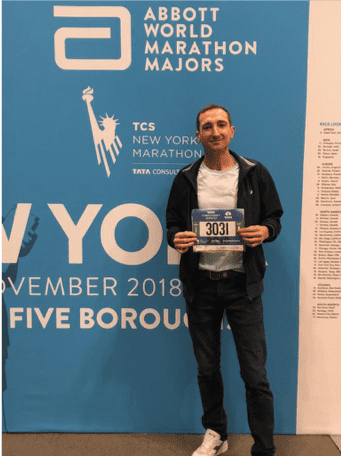 New York City Marathon number pickup at the Expo