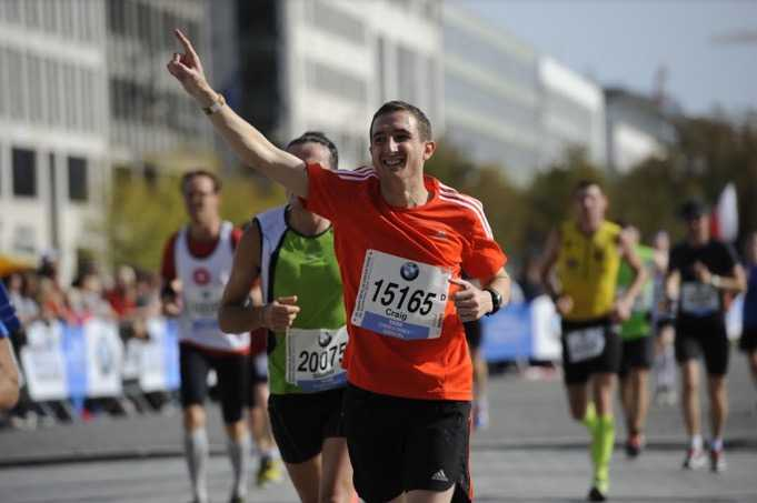 Craig at the 2014 Berlin Marathon